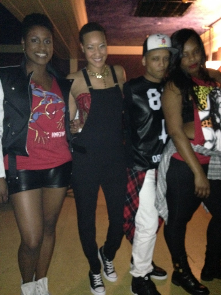 The Doublemints (from right: Issa Rae, Daisy O, Jai Lorenzo, Devy Dev)