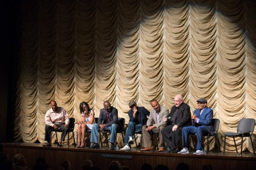 Photo by Matt Petit A.M.P.A.S. John Singleton, Robi Reed, Preston Holmes, Richard Edson, Roger Guenveur Smith, Tom Pollock and Spike Lee