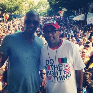 Dave Chappelle and Spike Lee - Do The Right Thing block party