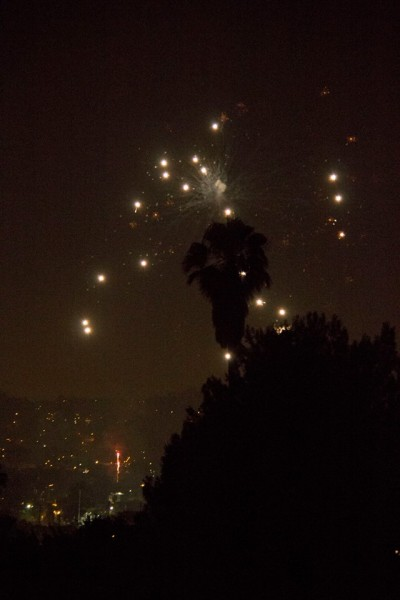 View of fireworks from Eagle Rock