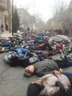 Die in protest at Yale University
