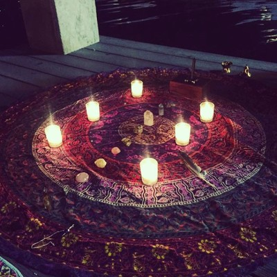 Goddess circle at Echo Park Lake during the new moon