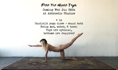 Free the Nipple Yoga Launch Flyer