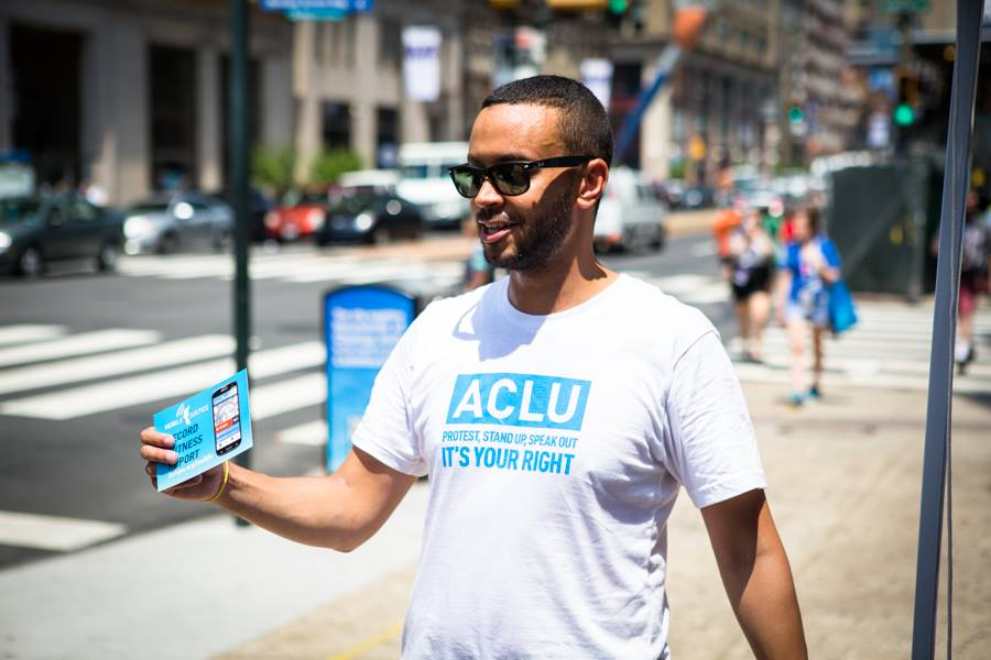 ACLU member canvassing